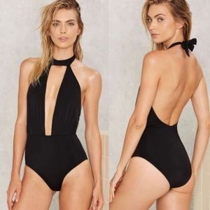 Nasty gal swimsuit black small